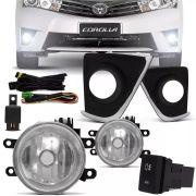 Kit Farol de Milha Completo Toyota Corolla 2015 16 17 Auxiliar Neblina