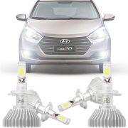 Kit Iluminação Completo Super Led Xenon Baixo Alto Milha Hyundai Hb20 2012 13 14 15 16 17 18 19 H4 H8