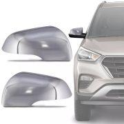 Capa de Retrovisor Cromado Hyundai Creta 2017 18 19 Encaixe Sob Medida