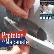Kit Protetor de Maçaneta Adesivo Incolor 4 Peças Protege contra Riscos de Unhas
