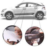 Kit Protetor de Maçaneta Película Adesivo Incolor Original Chevrolet Agile 2009 10 11 12 13 14 15 4 Peças Protege contra Riscos de Unhas
