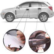 Kit Protetor de Maçaneta Película Adesivo Incolor Original Chevrolet Captiva 2008 09 10 11 12 13 14 15 16 17 18 19  4 Peças Protege contra Riscos de Unhas