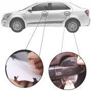 Kit Protetor de Maçaneta Película Adesivo Incolor Original Chevrolet Cobalt 2011 12 13 14 15 16 17 18 19 4 Peças Protege contra Riscos de Unhas
