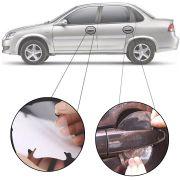 Kit Protetor de Maçaneta Película Adesivo Incolor Original Chevrolet Corsa 2002 03 04 05 06 07 08 09 10 11 12 13 14 15 16 4 Peças Protege contra Riscos de Unhas