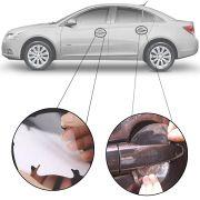 Kit Protetor de Maçaneta Película Adesivo Incolor Original Chevrolet Cruze 2012 13 14 15 16 17 18 19 4 Peças Protege contra Riscos de Unhas