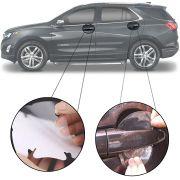 Kit Protetor de Maçaneta Película Adesivo Incolor Original Chevrolet Equinox 2018 19 4 Peças Protege contra Riscos de Unhas