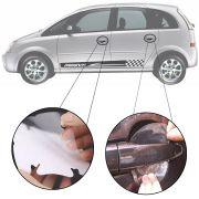 Kit Protetor de Maçaneta Película Adesivo Incolor Original Chevrolet Meriva 2002 03 04 05 06 07 08 09 10 11 12 13 4 Peças Protege contra Riscos de Unhas