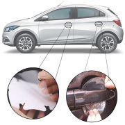 Kit Protetor de Maçaneta Película Adesivo Incolor Original Chevrolet Onix 2012 13 14 15 16 17 18 19 4 Peças Protege contra Riscos de Unhas