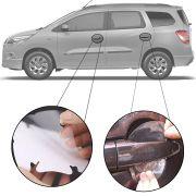Kit Protetor de Maçaneta Película Adesivo Incolor Original Chevrolet Spin 2012 13 14 15 16 17 18 19 4 Peças Protege contra Riscos de Unhas