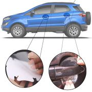 Kit Protetor de Maçaneta Película Adesivo Incolor Original Ford Ecosport 2003 04 05 06 07 08 09 10 11 12 13 14 15 16 17 18 19 4 Peças Protege contra Riscos de Unhas