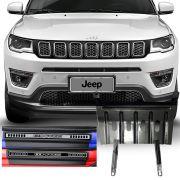 Kit Jeep Compass 2017 18 19 Soleira Resinada Premium e Protetor de Carter com Parafusos Inclusos