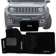 Kit Tapete Carpete Bolsa Tapete Porta Malas Jeep Renegade 2018 19