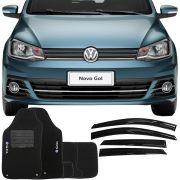 Kit Tapete Carpete e Calha de Chuva Volkswagen Gol
