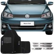 Kit Tapete Carpete e Soleira Aço Inox Volkswagen Gol