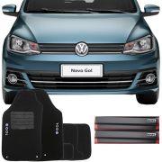 Kit Tapete Carpete e Soleira Resinada Volkswagen Gol