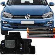 Kit Tapete Carpete e Soleira Resinada Volkswagen Polo 2018 Em Diante