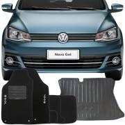 Kit Tapete Carpete e Tapete Bandeja Porta Malas Volkswagen Gol