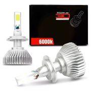 Lâmpada Super LED 3D Headlight 6000K 50W Efeito Xênon Com Fonte Embutida