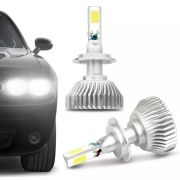 Lâmpada Super LED Headlight H1 6000K Efeito Xênon Com Fonte Embutida