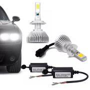Lâmpada Super LED Headlight H3 6000K Efeito Xênon Com Fonte Embutida