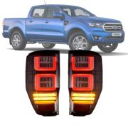 Lanterna Traseira LED Fumê Plug and Play Ford Ranger 2019 20