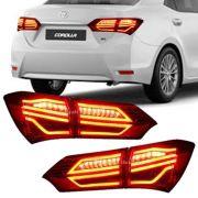 Lanterna Traseira LED Toyota Corolla 2015 16 17 18 19 Encaixe Original