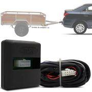 Módulo Automotivo para Iluminação de Engate Reboque Plug And Play Chevrolet Cobalt 2016 17 18 19 Fácil Instalação Connect 1P