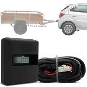 Módulo Automotivo para Iluminação de Engate Reboque Plug And Play Chevrolet Onix 2016 17 18 19 Fácil Instalação Connect 1AW