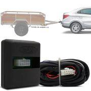 Módulo Automotivo para Iluminação de Engate Reboque Plug And Play Chevrolet Prisma Joy 2016 17 18 19 Fácil Instalação Connect 1Q