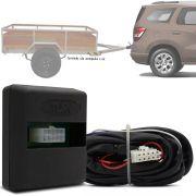 Módulo Automotivo para Iluminação de Engate Reboque Plug And Play Chevrolet Spin 2011 12 13 14 15 16 17 18 Fácil Instalação Connect 1AR