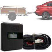 Módulo Automotivo para Iluminação de Engate Reboque Plug And Play Fiat Cronos 2018 19 Fácil Instalação Connect 1AT