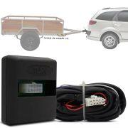 Módulo Automotivo para Iluminação de Engate Reboque Plug And Play Fiat Palio Weekend 2008 09 10 11 12 13 Fácil Instalação Connect 1D