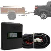 Módulo Automotivo para Iluminação de Engate Reboque Plug And Play Fiat Strada 2014 15 16 17 18 19 Fácil Instalação Connect 1N