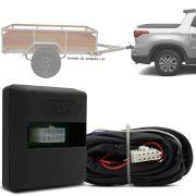 Módulo Automotivo para Iluminação de Engate Reboque Plug And Play Fiat Toro 2016 17 18 19 Fácil Instalação Connect 2S