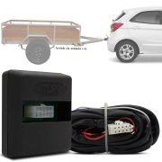 Módulo Automotivo para Iluminação de Engate Reboque Plug And Play Ford Ka Ka+ 2015 16 17 18 19 Fácil Instalação Connect 1AL