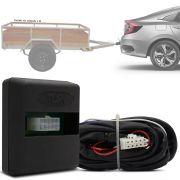 Módulo Automotivo para Iluminação de Engate Reboque Plug And Play Honda Civic G10 2017 18 19 Fácil Instalação Connect 1R