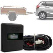 Módulo Automotivo para Iluminação de Engate Reboque Plug And Play Honda Fit 2018 19 Fácil Instalação Connect 1W