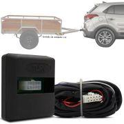 Módulo Automotivo para Iluminação de Engate Reboque Plug And Play Hyundai Creta 2017 18 19 Fácil Instalação Connect 1A