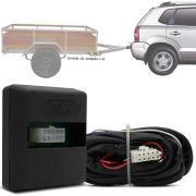 Módulo Automotivo para Iluminação de Engate Reboque Plug And Play Hyundai Tucson 2004 05 06 07 08 09 10 11 12 13 14 15 16 Fácil Instalação Connect 1AH