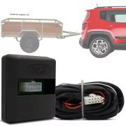 Módulo Automotivo para Iluminação de Engate Reboque Plug And Play Jeep Renegade 2016 17 18 19 20 Fácil Instalação Connect 1.2BL