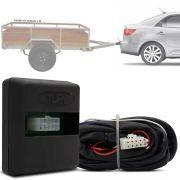 Módulo Automotivo para Iluminação de Engate Reboque Plug And Play Kia Cerato 2013 14 15 16 17 18 19 Fácil Instalação Connect 1AK