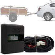 Módulo Automotivo para Iluminação de Engate Reboque Plug And Play Nissan Sentra 2014 15 16 17 18 19 Fácil Instalação Connect 1Y