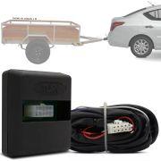 Módulo Automotivo para Iluminação de Engate Reboque Plug And Play Nissan Versa 2015 16 17 18 19 Fácil Instalação Connect 1C