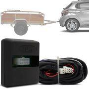 Módulo Automotivo para Iluminação de Engate Reboque Plug And Play Peugeot 208 2013 14 15 16 17 18 Fácil Instalação Connect 1G