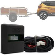 Módulo Automotivo para Iluminação de Engate Reboque Plug And Play Renault Captur 2017 18 19 Fácil Instalação Connect 1AA