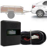 Módulo Automotivo para Iluminação de Engate Reboque Plug And Play Renault Logan 2014 15 16 17 18 19 Fácil Instalação Connect 1I