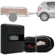 Módulo Automotivo para Iluminação de Engate Reboque Plug And Play Renault Sandero 2014 15 16 17 18 19 Fácil Instalação Connect 1H