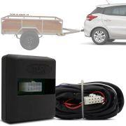 Módulo Automotivo para Iluminação de Engate Reboque Plug And Play Toyota Yaris Hatch 2018 19 Fácil Instalação Connect 1CC