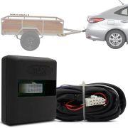 Módulo Automotivo para Iluminação de Engate Reboque Plug And Play Toyota Yaris Sedan 2018 19 Fácil Instalação Connect 1AD