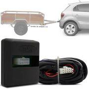 Módulo Automotivo para Iluminação de Engate Reboque Plug And Play Volkswagen Gol G6 2012 13 14 15 Fácil Instalação Connect 1AX